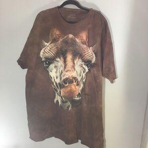 The Mountain giraffe T shirt in brown